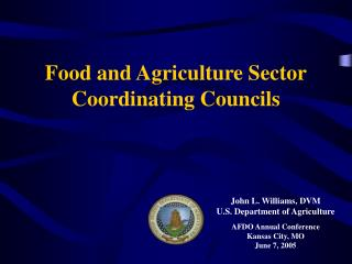 Food and Agriculture Sector Coordinating Councils