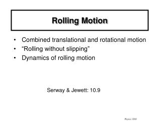 Rolling Motion