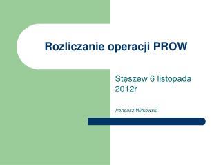 Rozliczanie operacji PROW