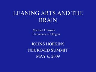 LEANING ARTS AND THE BRAIN
