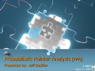 Probabilistic Pointer Analysis  [PPA]