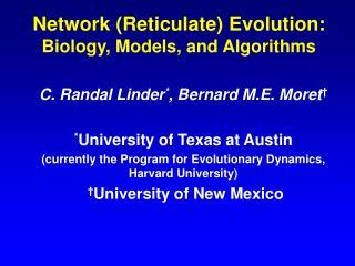 Network Reticulate Evolution: Biology, Models, and Algorithms