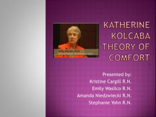 biography of katharine kolcaba Kathrine kolkoba's theory of comfort katharine kolcaba was one of the first researchers to develop a theory of comfort to improve patient satisfaction and.