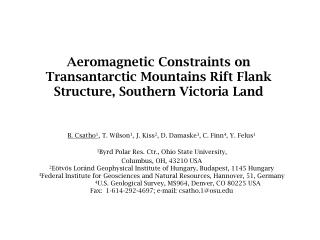 Aeromagnetic Constraints on Transantarctic Mountains Rift Flank Structure, Southern Victoria Land