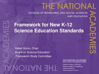 Framework for New K-12 Science Education Standards