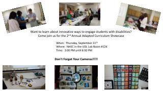 Want to learn about innovative  w ays to  e ngage  s tudents with disabilities?