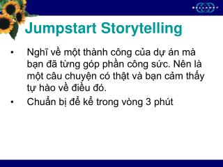 Jumpstart Storytelling