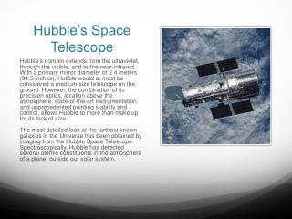 Hubble's Space Telescope