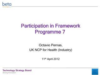 Participation in Framework Programme 7