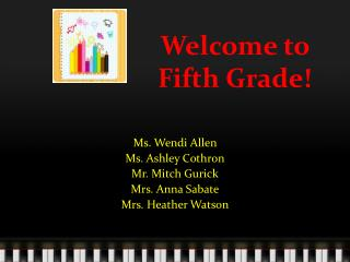 Welcome to Fifth Grade!