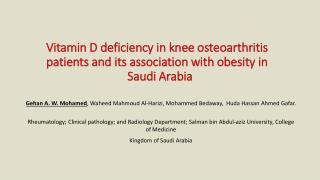 Osteoarthritis (OA) is the most common chronic arthritis