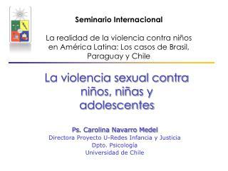 La violencia sexual contra niños, niñas y adolescentes