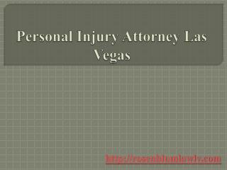 The Best Personal Injury Attorney Las Vegas
