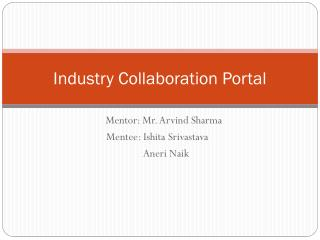 Industry Collaboration Portal
