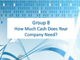 Group 8 How Much Cash Does Your Company Need?