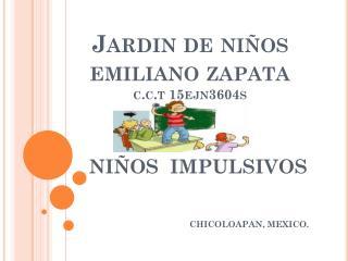 Jardin  de niños  emiliano  zapata c.c.t 15ejn3604s