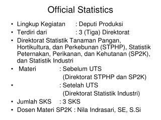 Official Statistics