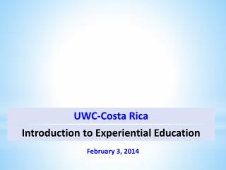 Introduction to Experiential Education
