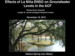 Effects of La Niña ENSO on Groundwater Levels in the ACF