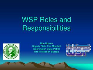 WSP Roles and Responsibilities