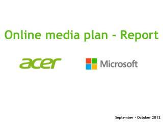 Online media plan - Report