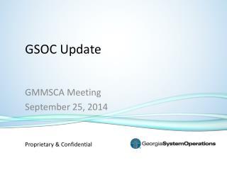 GSOC Update