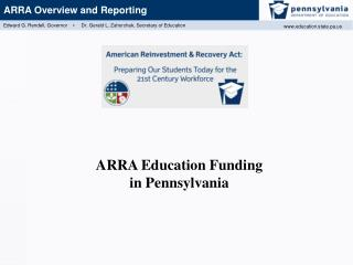 ARRA Education Funding  in Pennsylvania