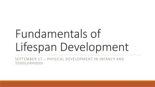 Fundamentals of Lifespan Development