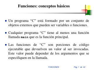 Funciones: conceptos básicos