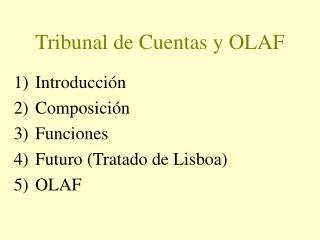 Tribunal de Cuentas y OLAF