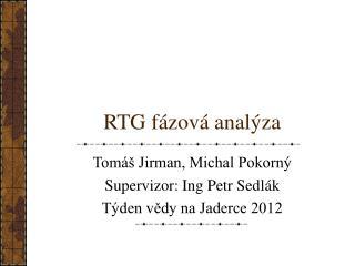 RTG f �zov� anal�za