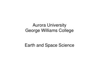 Aurora University George Williams College