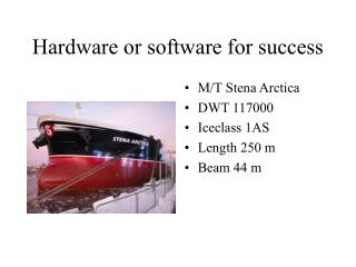 Hardware or software for success