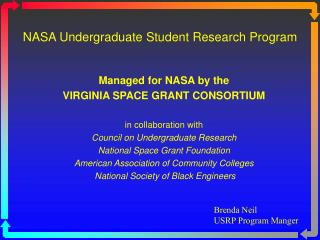 NASA Undergraduate Student Research Program