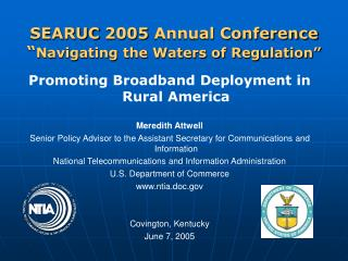 "SEARUC 2005 Annual Conference "" Navigating the Waters of Regulation"""