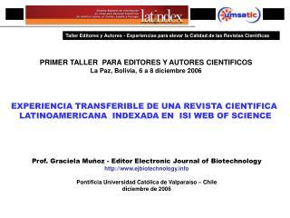 PRIMER ENCUENTRO IBEROAMERICANO DE EDITORES CIENTIFICOS