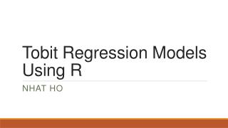Tobit  Regression Models Using R