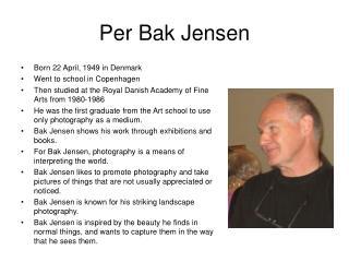 Per Bak Jensen