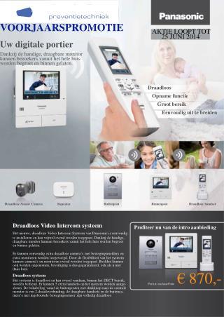 Draadloos Video Intercom systeem