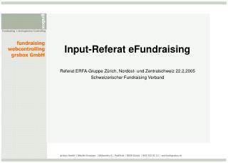 Input-Referat eFundraising