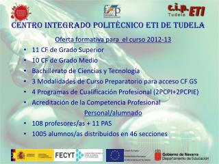 Centro INTEGRADO POLITÉCNICO ETI DE TUDELA