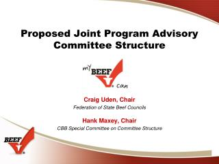 Proposed Joint Program Advisory Committee Structure