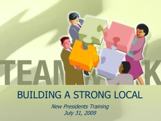 BUILDING A STRONG LOCAL