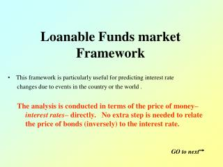 Loanable Funds market Framework