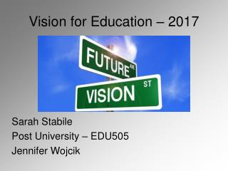 Vision for Education – 2017