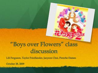 """Boys over Flowers"" class discussion"