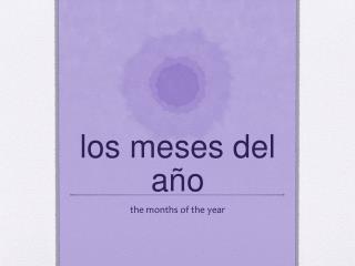l os  meses  del  a ño