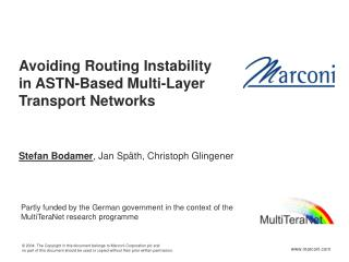 Avoiding Routing Instability  in ASTN-Based Multi-Layer  Transport Networks