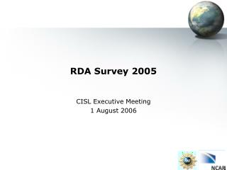 RDA Survey 2005