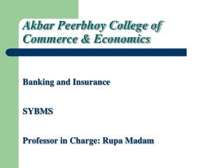 Akbar Peerbhoy College of  Commerce & Economics